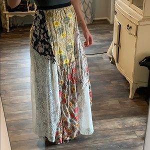Gimmicks by BKE mixed pattern full length skirt